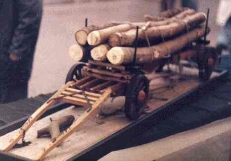 A 1/8th. scale model of a ''Timber Waggon'', built by Cliff Rogers of Abergavenny, from John Thompson plans.