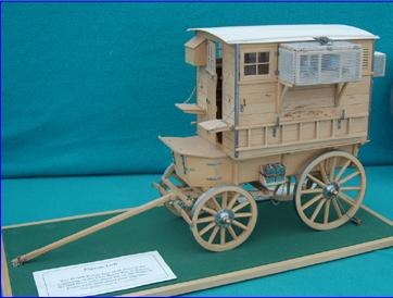 Mobile Pigeon Loft made in 1/12th scale by Brian Young