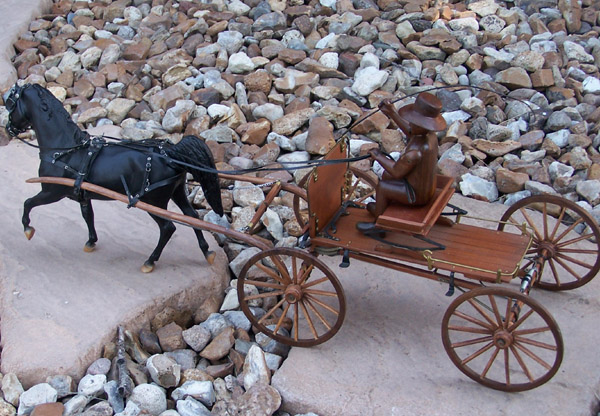 1/8th scale buckboard