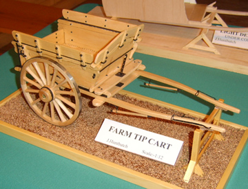 farm tip cart in 1/12th scale