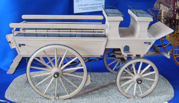1/8th scale model of a 1914 wagonette