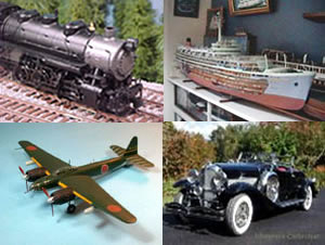 All four pictures shown here are scale models of actual full size vehicles and craft.